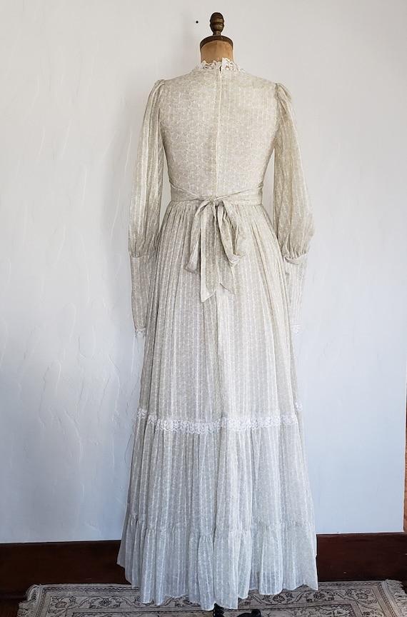 70s Gunne Sax pastel floral prairie dress   M - image 5