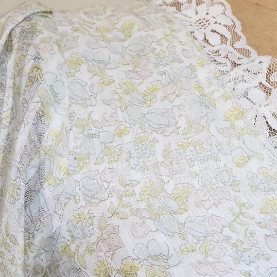 70s Gunne Sax pastel floral prairie dress   M - image 8