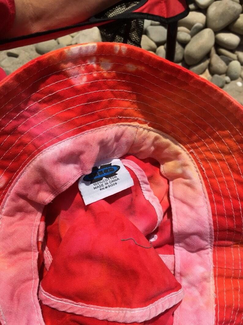 Adult tie dye ice dye bucket hat