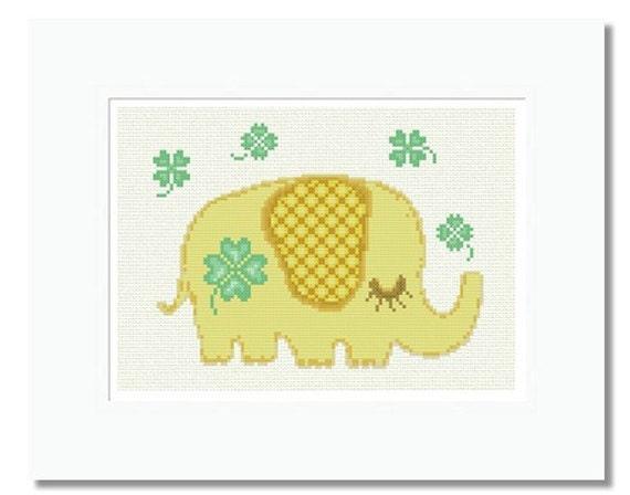 Collage De Elefante-tabla De Punto De Cruz