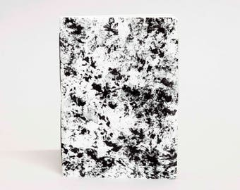 Eco-friendly notebook - Handmade black speckle mini notebook, A6, made from recycled paper, acid free, blank pages, custom cover option.