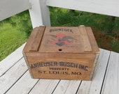 Anheuser Busch 1876 - 1976 Wood Beer Crate 100 Year Anniversary Crate