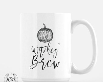 Witches Brew, Halloween Mug, Autumn Mug, Fall Coffee Mug, Pumpkin Latte, Coffee Mug, Cool Coffee Mugs, Gift for Her, Gift for Mom, Tea Cup