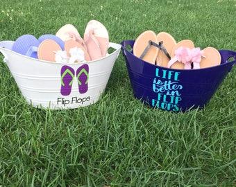875c9b5811c0d Personalized Flip Flop Baskets