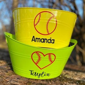 Softball  EASTER Bucket Free Shipping