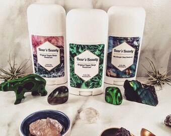 3 Pack Max Strength Hemp Natural Deodorant 2.5 oz, US Ships Free, 24- 48 Hours of Odor Protection, Aluminum + Coconut Free, Organic Hemp Oil