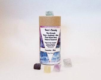 Max Strength Natural Hemp Deodorant 75mL   2.5oz, 48 Hour Hormone + Acne Friendly Magnesium Deodorant, Coconut Free Vegan Deodorant