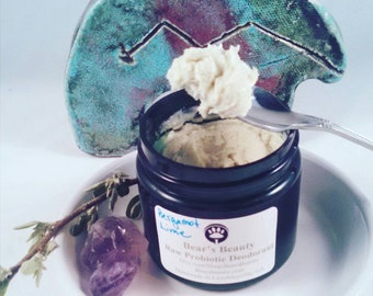 Lavender Raw Probiotic Hemp Natural Deodorant Cream 2 oz // Use With Any Stick Formula |Vegan| Pregnancy Safe Deodorant Cream | Glass Jar