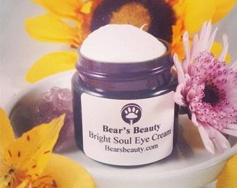 AGELESS EYE BUTTER | Bright Soul | Eye Cream | Licorice Root + Hemp Seed Oil | Moisturizer | Wrinkles | Crepey Skin | Eye Serum | Vegan