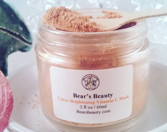 VITAMIN C MASK | Brightening Clay Mask | Dry Mask | Brighten + Exfoliate | Fresh Vitamin C | Great For All Skin Types | Anti-Aging