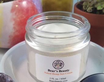 Naked | HEMP SUN BALM | 23% Zinc | Spf No Shea Butter | Gentle Sun Block | Great For All Year | Day Cream | Sunscreen | Sun | Violet Glass
