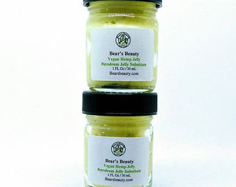 VEGAN HEMP JELLY | Vegan Hemp Jelly | Vaseline Substitute | Non Petroleum Jelly | Barrier Cream | Vegan Barrier Cream | Vegan Jelly | Vegan