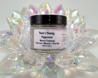 Spearmint Mineral Tooth Powder, Natural Tooth  Brushing Powder, Remineralizing Toothpaste, Vegan Oral Care, Cruelty Free, Vegan