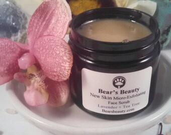 Frenach Black Clay + Charcoal + Birch Micro Exfoliating Facial Scrub 60mL, Face Polish, Microdermabrasion, Vegan Face Scrub, Gentle Scrub,