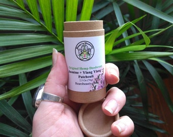 CLEAR Original Hemp Natural Deodorant 75gr, 8-12 Hours, Eco Tube, Coconut Free Natural Deodorant,  / Unscented Available, BBB