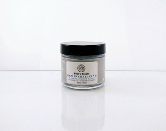 Original Peppermint Remineralizing Toothpaste 60ml, Bentonite + Pink Salt, Natural Remineralizing Toothpaste,Handmade