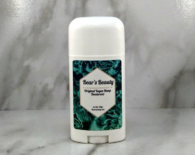 Featured listing image: Max Strength Vegan Hemp Natural Deodorant 2.5 oz, 24 hour Natural Deodorant, Organic Deodorant, Cannabis Deodorant, Aluminum Free Deodorant