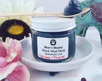 Spot Eraser Paste, Gentle Natural Acne Spot Mask, Sweet Birch + Activated Charcoal, Acne + Blackheads + Breakouts, Handmade Spot Mask