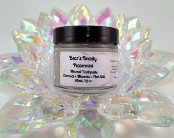 Spearmint Sensitivity Relief Mineral Toothpaste 60mL, Theobromine Toothpaste, Natural Remineralizing Toothpaste,Handmade Toothpaste