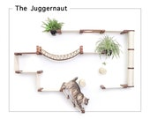 Juggernaut- Cat Furniture Cat Shelf Cat Hammock Cat Tower Cat wall Mounted Bridge Cat Activity Cat Bridge Cat Toy  Catastrophic Creations