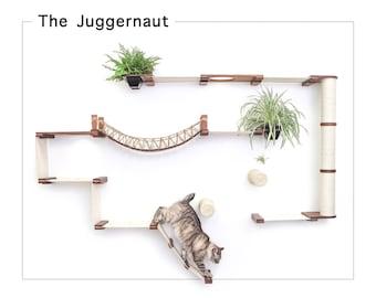 Juggernaut- Cat Furniture Cat Shelf Cat Hammock Cat Tower Cat wall Mounted Bridge Cat Activity Cat Bridge Cat Toy| Catastrophic Creations