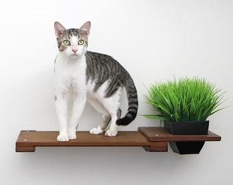 Planter Shelf 18in- Cat Planter Cat Garden Cat Furniture Cat Shelves Cat Shelf Cat Hammock Cat Bridge Cat Love| Catastrophic Creations