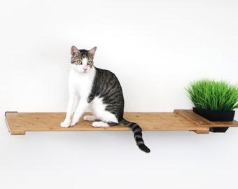 Planter Shelf 34in- Cat Planter Shelf Cat Garden Cat Furniture Cat Shelves Cat Shelf Hammock Cat Bridge Cat Love| Catastrophic Creations