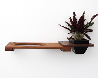 Planter Escape Hatch 18in- Cat Wall Shelf Wall Shelves Cat Bed Shelves Cat Wood Furniture Hammock Cat Indoor Play| Catastrophic Creations