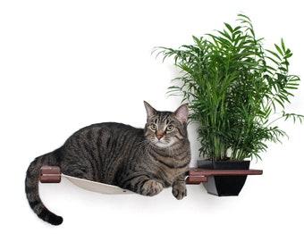 Cat Planter Lounge 33in- Cat Planter Cat Furniture Cat Shelves Cat Shelf Cat Hammock Cat Scratcher Tree Cat Play| Catastrophic Creations