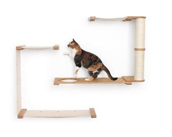 Dakota- Cat Tree Cat Furniture Cat Wall Climb Furniture Cat Hammock Cat Tower Cat Bridge Cat Activity Cat Play  Catastrophic Creations