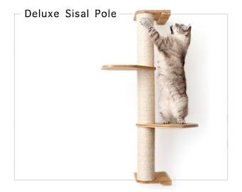 Deluxe Sisal Pole- Cat Pole Cat Tower Cat Climb Cat Hammock Toy Cat Tower Cat Scratching Cat Scratcher Cat Tree  Catastrophic Creations