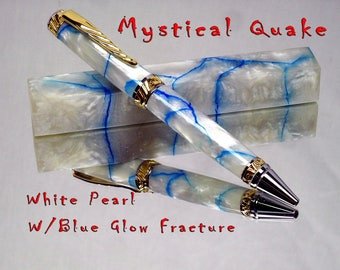 Mystical Quakes White Pearl with Blue Or Green Glowing Fraxture!