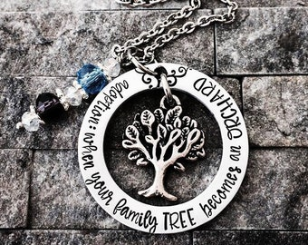 Adoption Necklace, Mother's Necklace, Gifts for Her, Handstamped Necklace, Love Necklace, Mom Jewelry, Adoption Gift