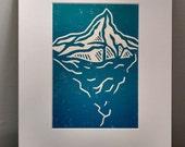 Iceberg - block print