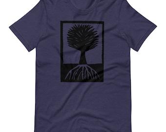 Wood cut tree print Short-Sleeve Unisex T-Shirt