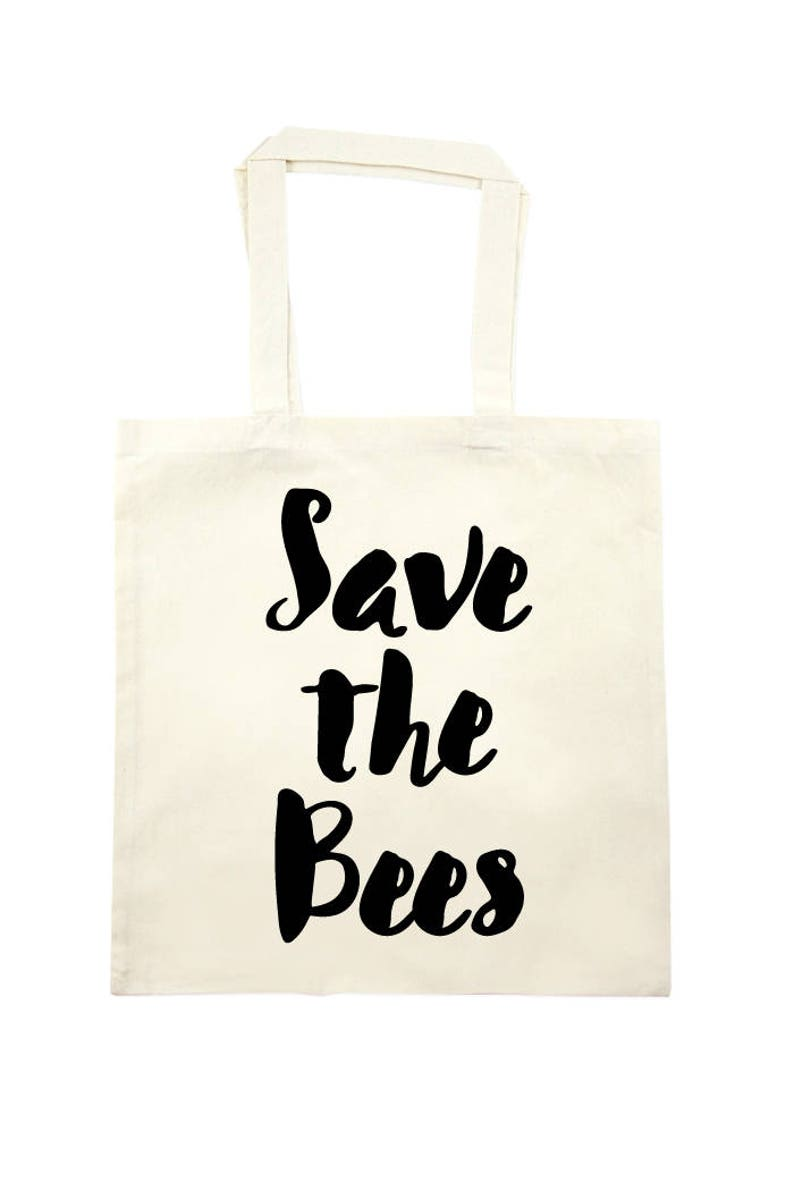 Save the Bees Tote Bag  natural image 0