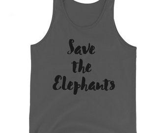 Save the Elephants Unisex Tank Top