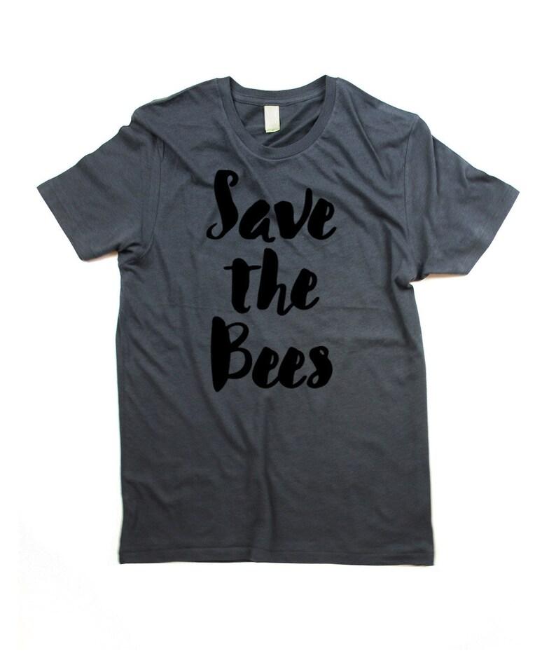 Bee tshirt  Organic Cotton Mens Save the bees Shirt  Small image 0