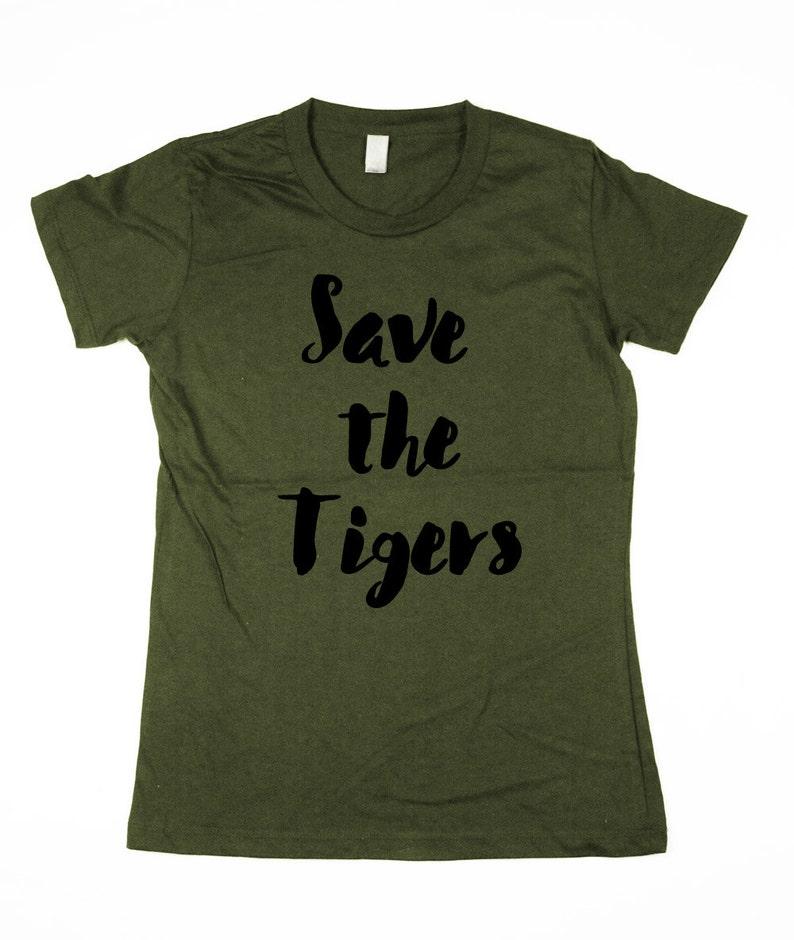 Womens Tigers T-shirt  tiger shirt tigers organic cotton image 0