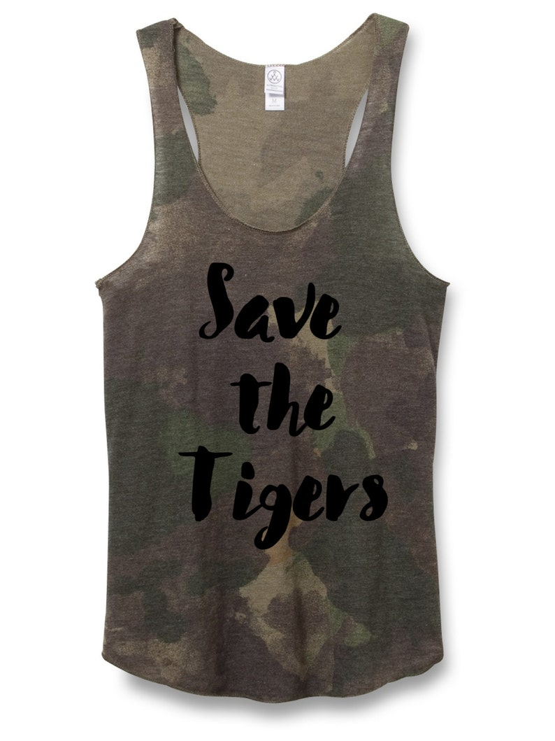 Woman Tank  Save the Tigers Tank Top  came tank for Women  image 0