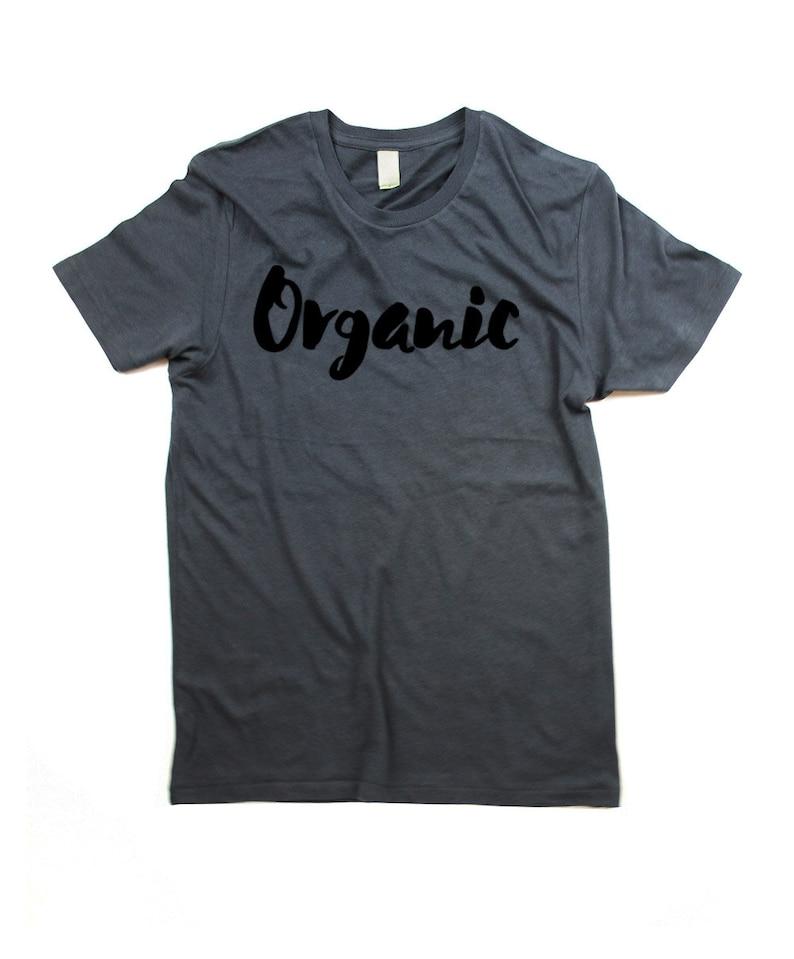 Organic T-shirt  Mens Organic Cotton Tshirt Shirt  Organic image 0