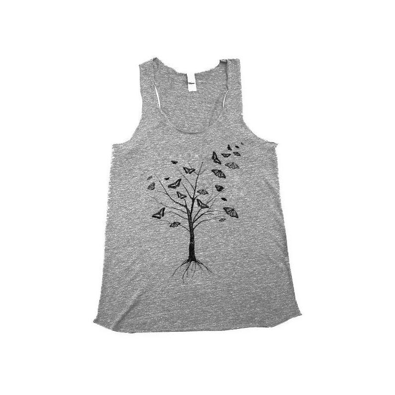 Tank Top  Butterfly Tank Top  Tree Shirt  Tank Tops  image 0