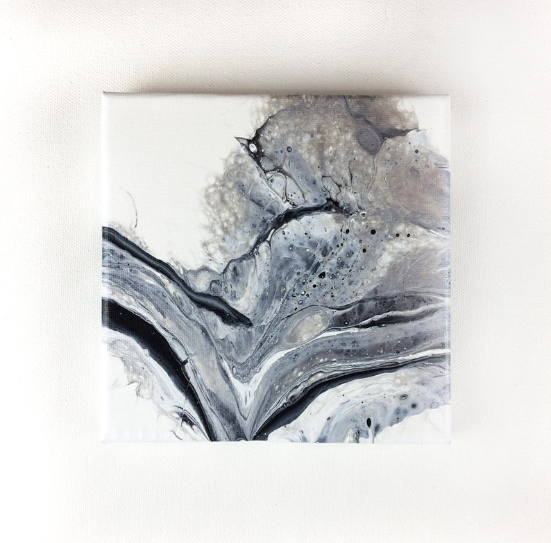 Abstract art 6 x 6 Canvas Painting Fluid Art image 0