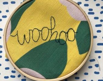 Woohoo Embroidered Wall Art