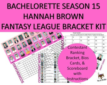 photo relating to Bachelor Bracket Printable Nick titled Bachelor/Bachelorette Any Time Myth League Excel Etsy