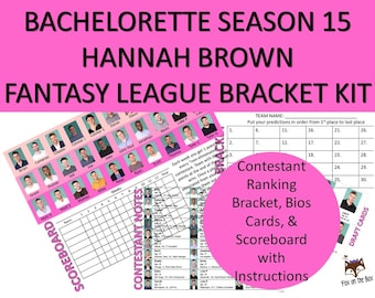 photo regarding Bachelor Bracket Printable Nick named Bachelor/Bachelorette Any Time Myth League Excel Etsy