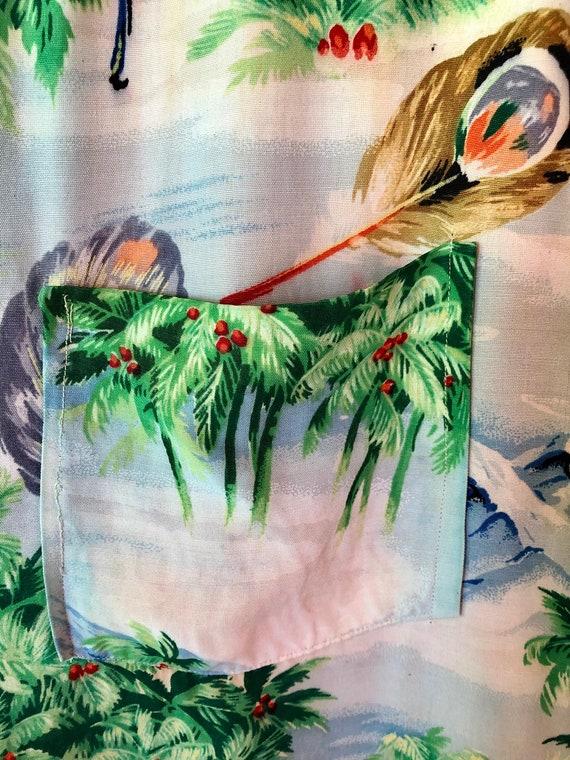 SALE 1950s Pilgrim Hawaiian Rayon Shirt M - image 8