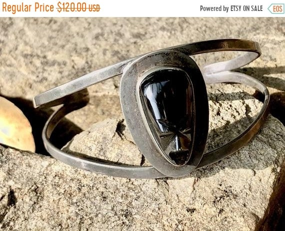 SALE 1950s Silver Mexican Tribal Tiki Mask Cuff
