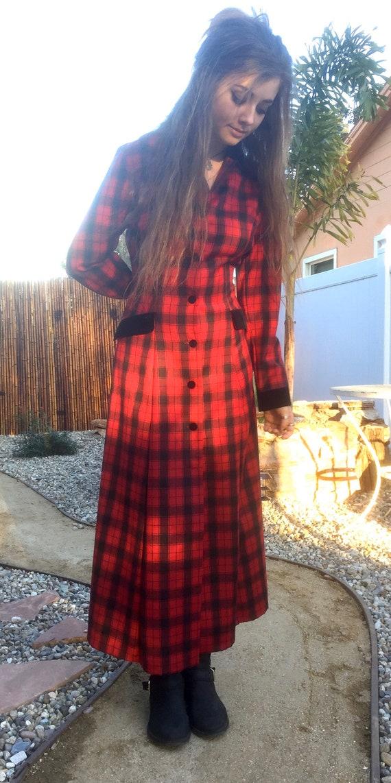 Vintage Laura Ashley Tartan Riding Coat/Dress M