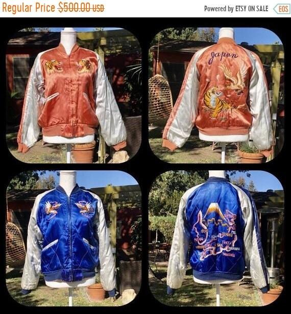 SALE 1950s Japanese Reversible Souvenir Jacket Suk